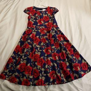 Euc Bonny Billy lined floral dress 8/9 140